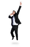 Business man winner hand up Stock Images