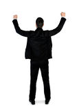 Business man winner hands up Royalty Free Stock Photos