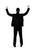 Business man winner hands up Royalty Free Stock Photos