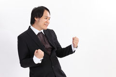 business man winner overwhite background Stock Photo