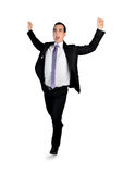Business man winner run Royalty Free Stock Photos