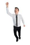 Business man winner scream. Isolated business man winner scream Stock Photos