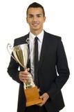 Business man winning Stock Image
