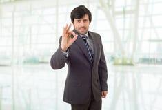 Business man winning royalty free stock photos