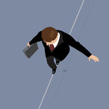 Business Man on a Wire. Royalty Free Stock Photo