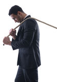 Business Man With Rope Isolated Royalty Free Stock Images