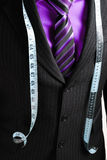 Business Man With Tape Measure Royalty Free Stock Photography