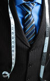 Business Man With Tape Measure Stock Photos
