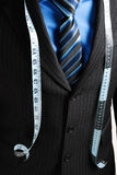 Business Man With Tape Measure Stock Photography