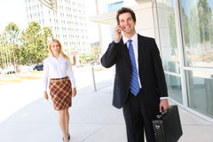 Business Man and Woman Royalty Free Stock Photography