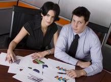 Business man and woman Stock Photos