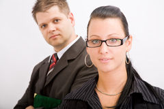 Business man and woman Stock Photo