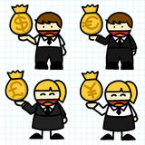 Business man and woman cartoon. Stock Images