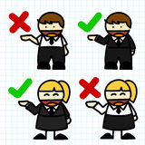 Business man and woman cartoon. Stock Image