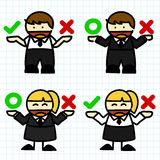 Business man and woman cartoon. Royalty Free Stock Images