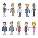 Business man and woman character design Royalty Free Stock Photos
