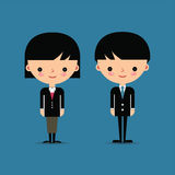 Businessman and businesswoman characters Royalty Free Stock Photography