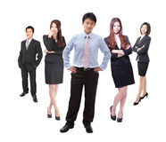 Business man and woman group in full length Royalty Free Stock Photos