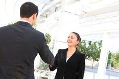 Business Man and Woman Handshake Royalty Free Stock Image