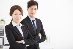 business man and woman in the office Royalty Free Stock Photo