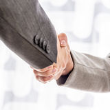 Business man and woman shaking hands Stock Photography