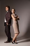 Business man and woman standing Royalty Free Stock Photo
