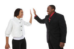 Business Man and Woman Success Royalty Free Stock Photos