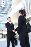 Business Man and Woman Team Stock Photo