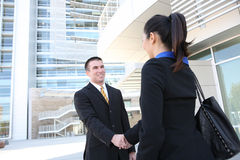Business Man and Woman Team Royalty Free Stock Photography