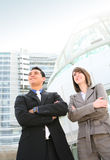 Business Man and Woman Team Stock Photography