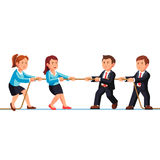 Business man and woman teams competition metaphor Royalty Free Stock Photo