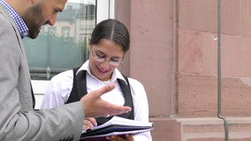 Business Man and Woman Teamwork Talking Concept. Video stock footage
