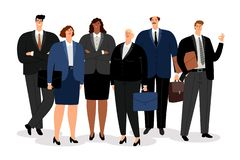 Business man and women. In formal clothes, vector illustration vector illustration