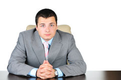 Business man at work Stock Images