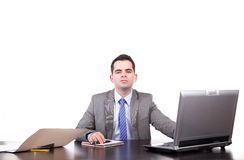 Business man at work Stock Photography