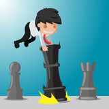 Business Man Worker Play Game Chess Vector Stock Images