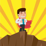 Business Man Worker Winner Stand Vector Royalty Free Stock Photography