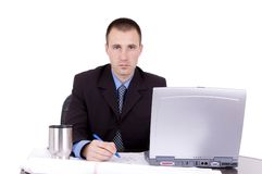 Business man working Royalty Free Stock Photo