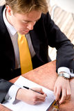 Business man working Royalty Free Stock Image