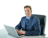 Business man working or customer service representative Royalty Free Stock Photography