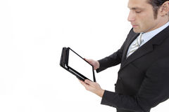 Business man working with a digital tablet Royalty Free Stock Images