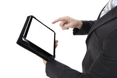 Business man working with a digital tablet Stock Images