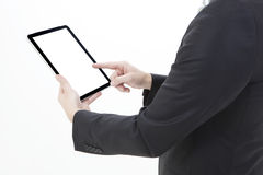 Business man working with a digital tablet Royalty Free Stock Photo