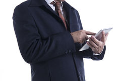 Business man working on digital tablet Royalty Free Stock Photo