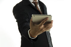 Business man working on digital tablet Stock Photography