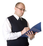 Business man working with documents. Royalty Free Stock Photo