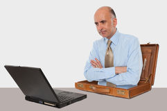 Business man working with his laptop Royalty Free Stock Photography