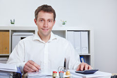Business man working in his office Stock Image