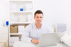 Business man working at home Royalty Free Stock Image