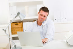 Business man working at home Stock Image